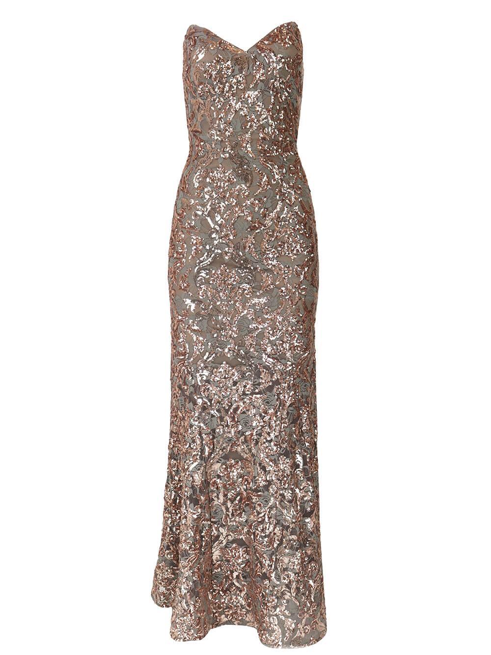 Sequin Evening Gown Item # 05054
