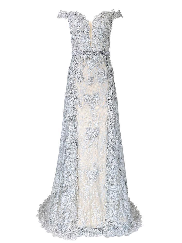 Off The Shoulder Lace Evening Dress Item # 2234