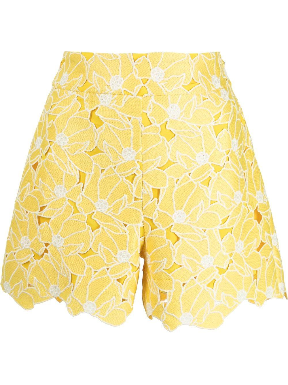 Marley Tropical Lily Cut-Out Shorts