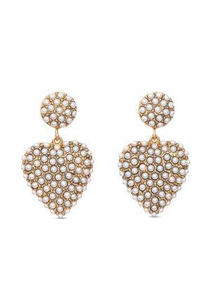 Amelie Heart Pearl Drop Earrings