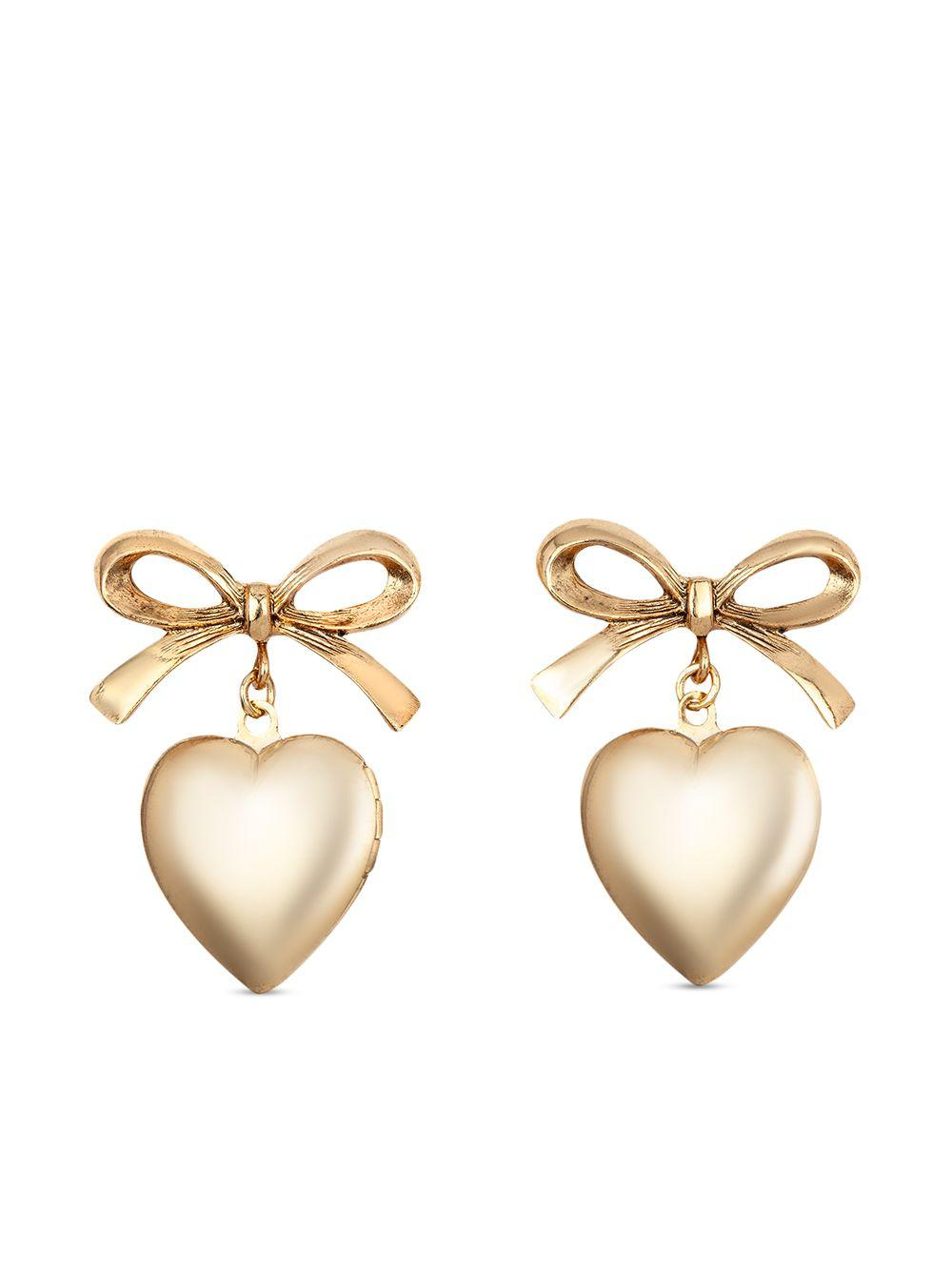 Chriselle Heart and Bow Earrings
