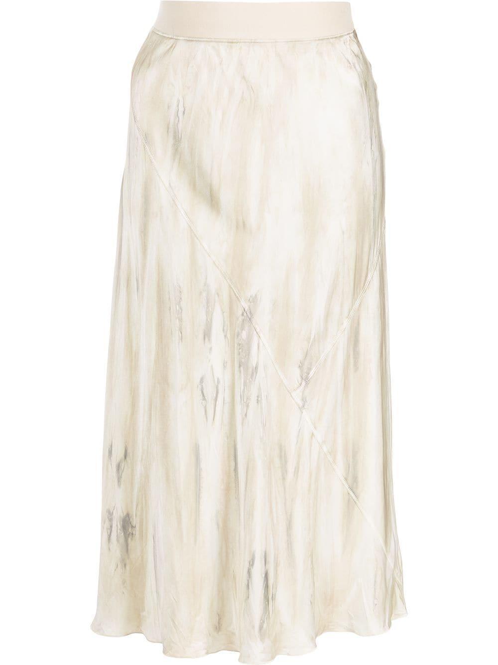 Silk Watercolor Midi Skirt Item # AW9800-BD31