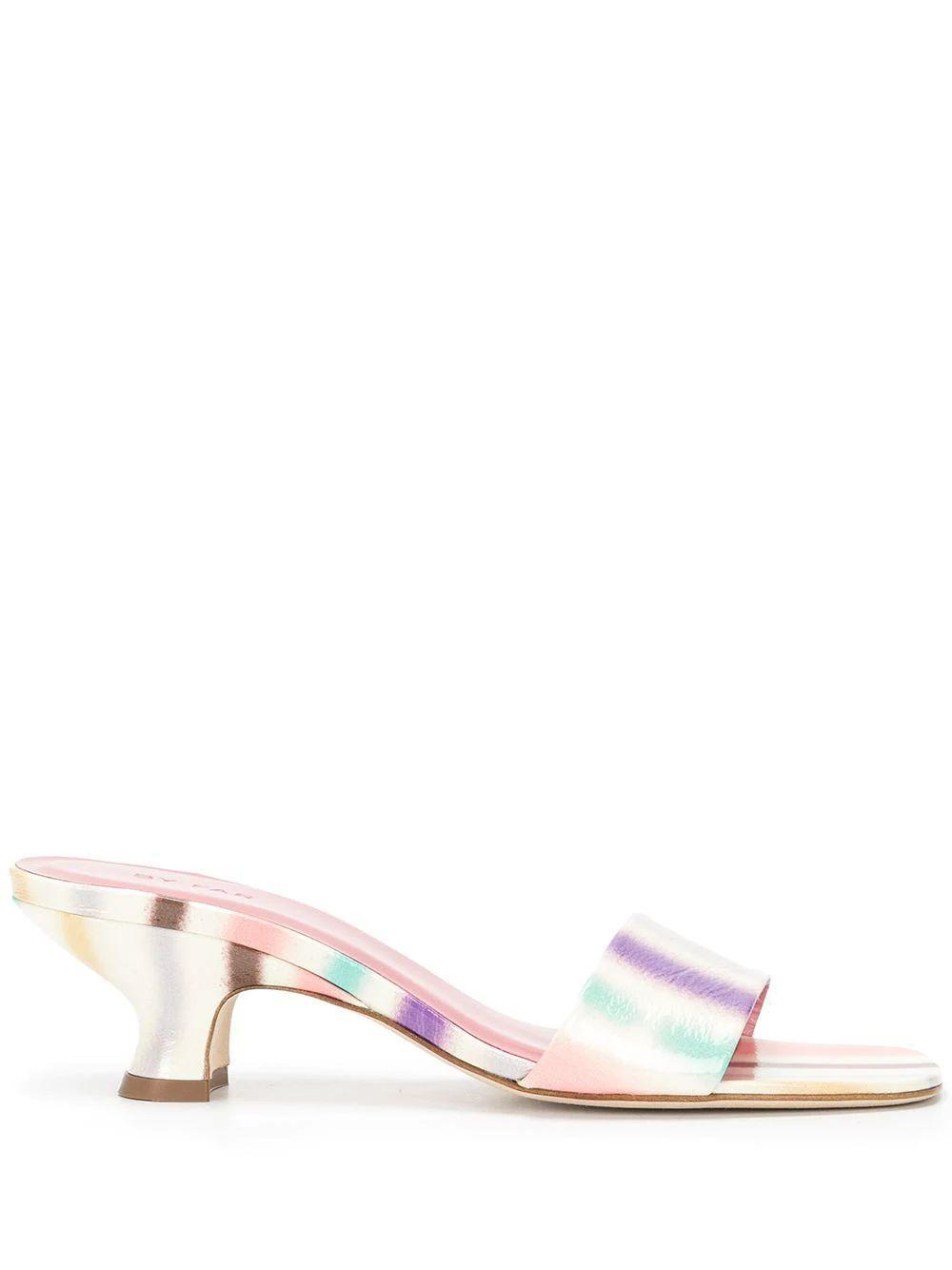Freddy Striped Slide Sandals Item # 21SSFRMIVRSPR