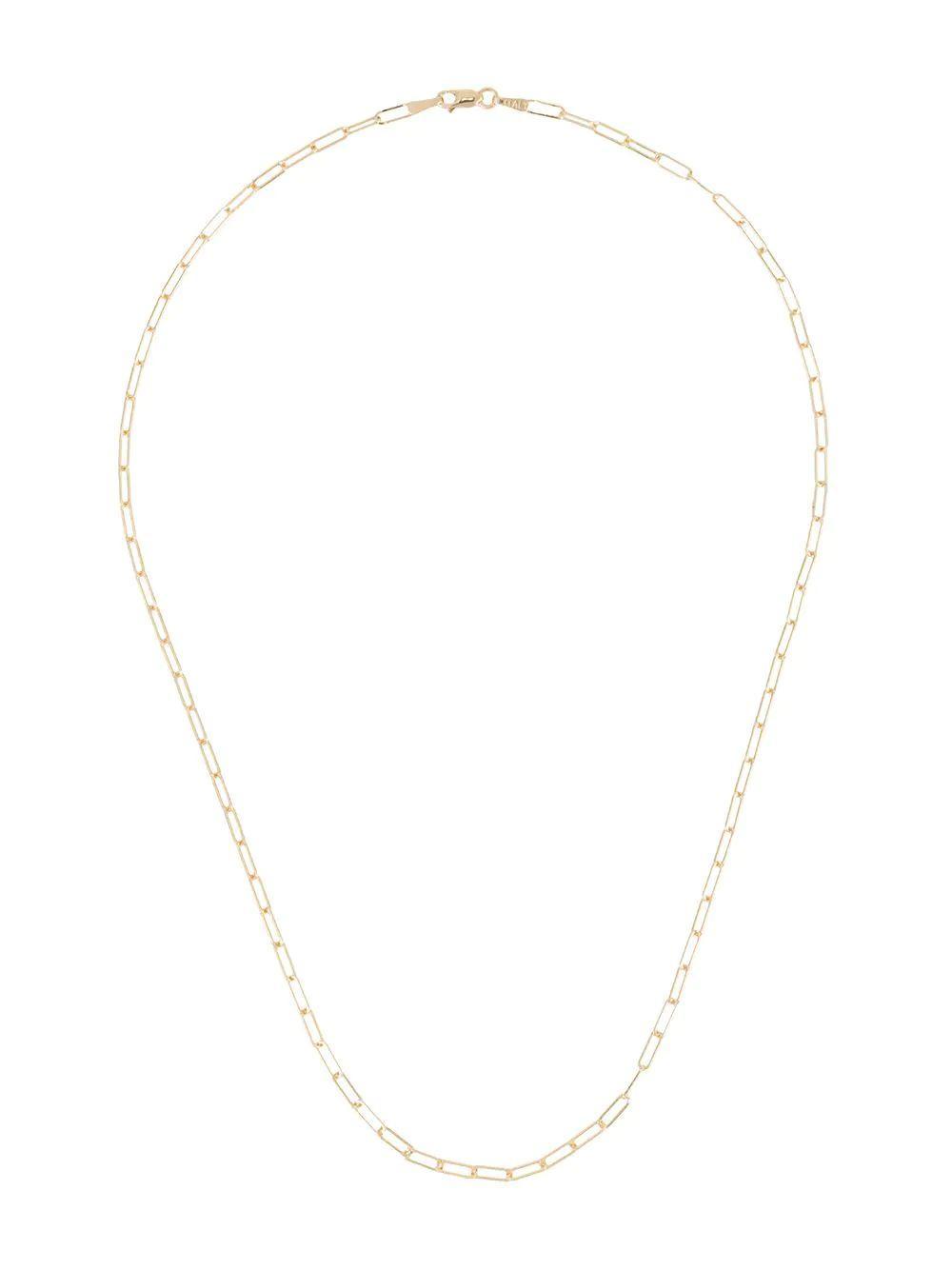14kt Mini Paper Clip Chain Necklace Item # N142