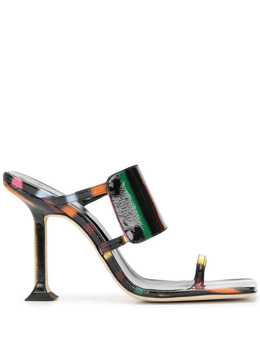 Gigi Striped Sandals Item # 21SSGIGHBLSPR