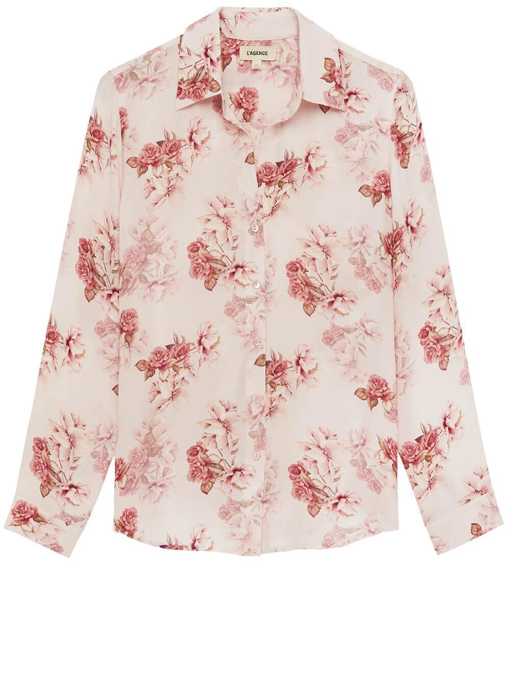 Nina Flower Print Blouse Item # 4254RFO