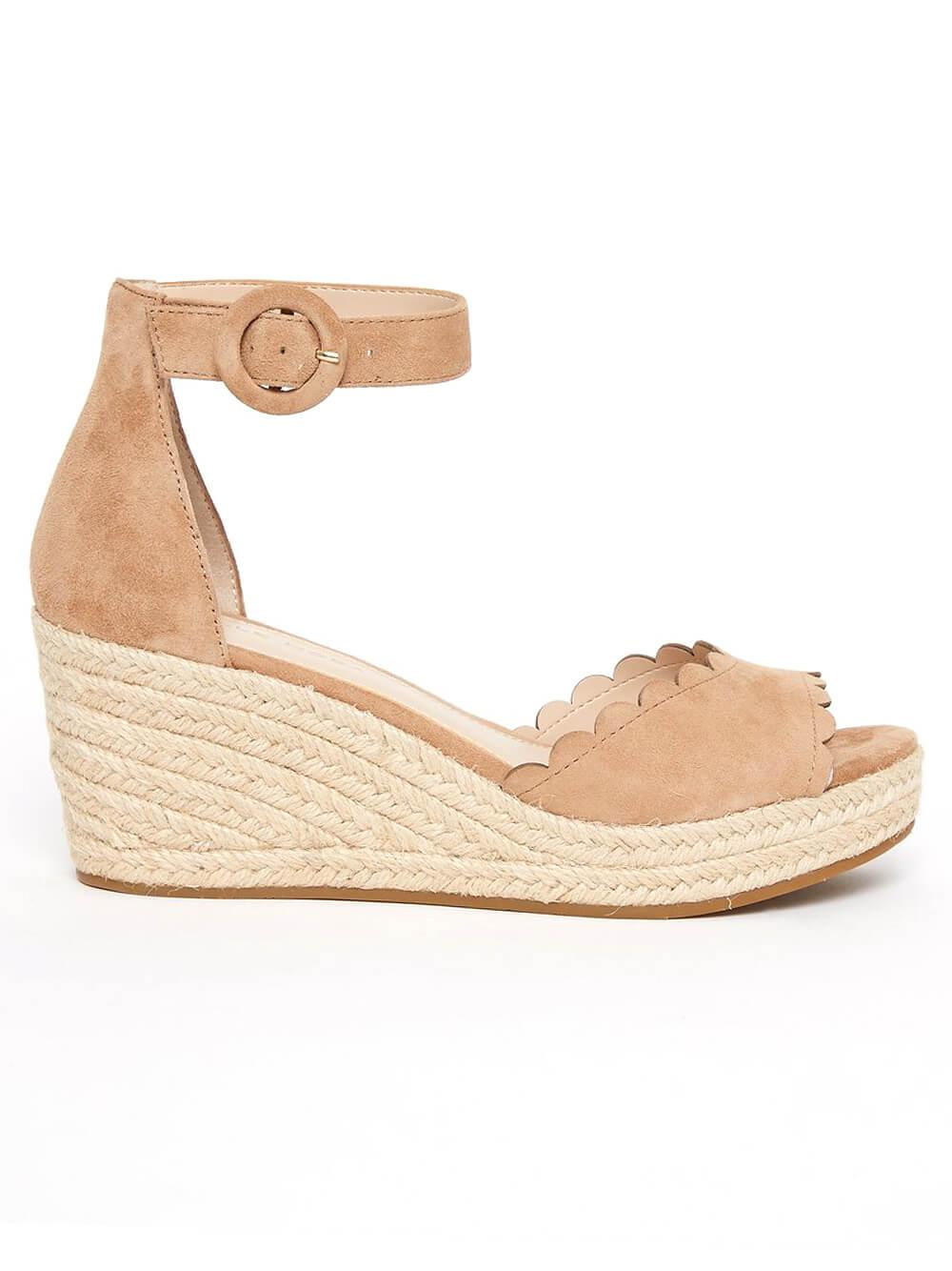 Krisa Scalloped Espadrille
