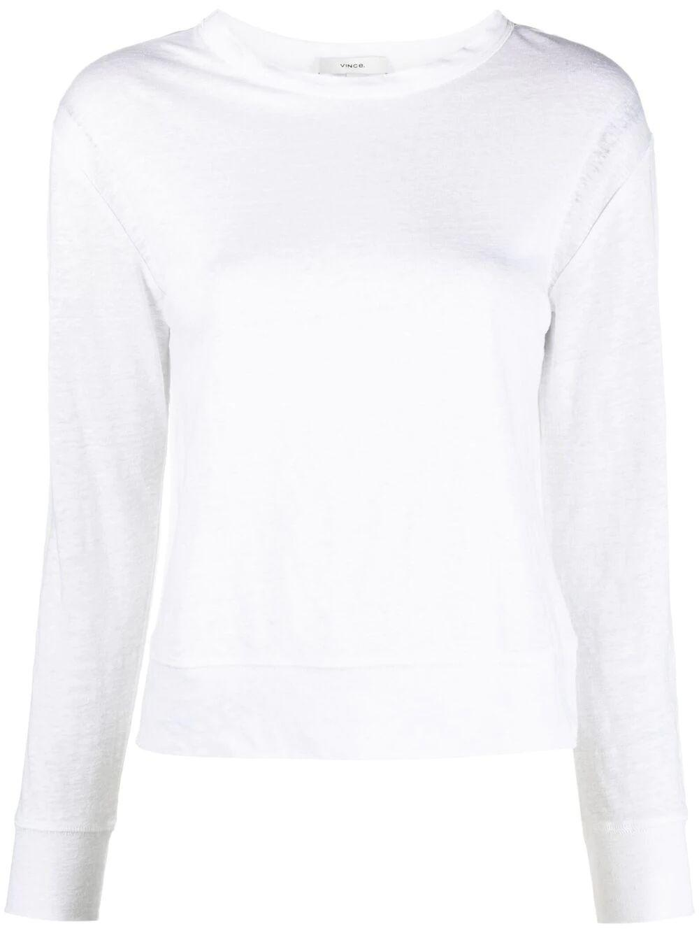 Linen Long Sleeve T- Shirt Item # V736483710
