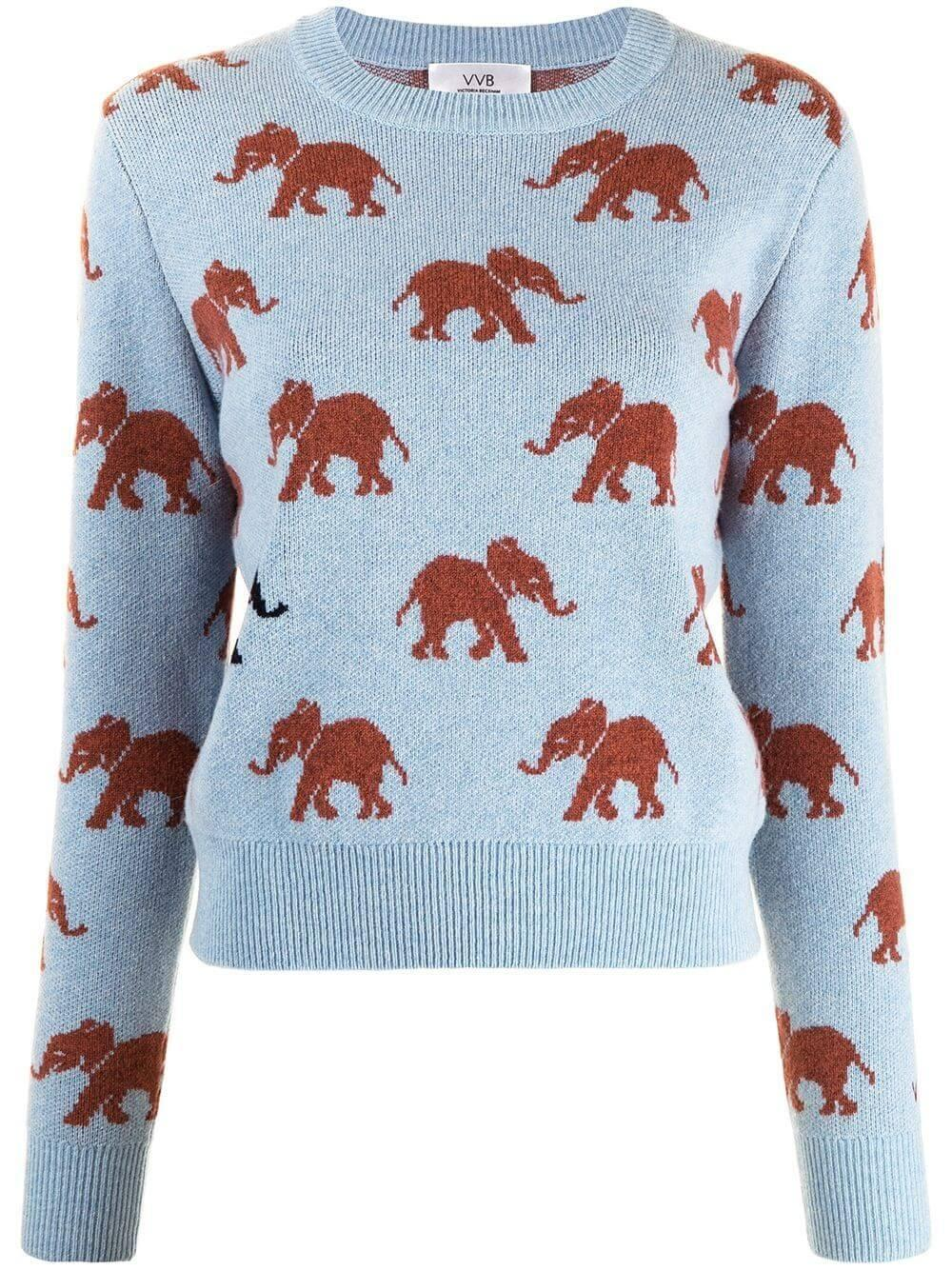 Elephant Intarsia Sweater