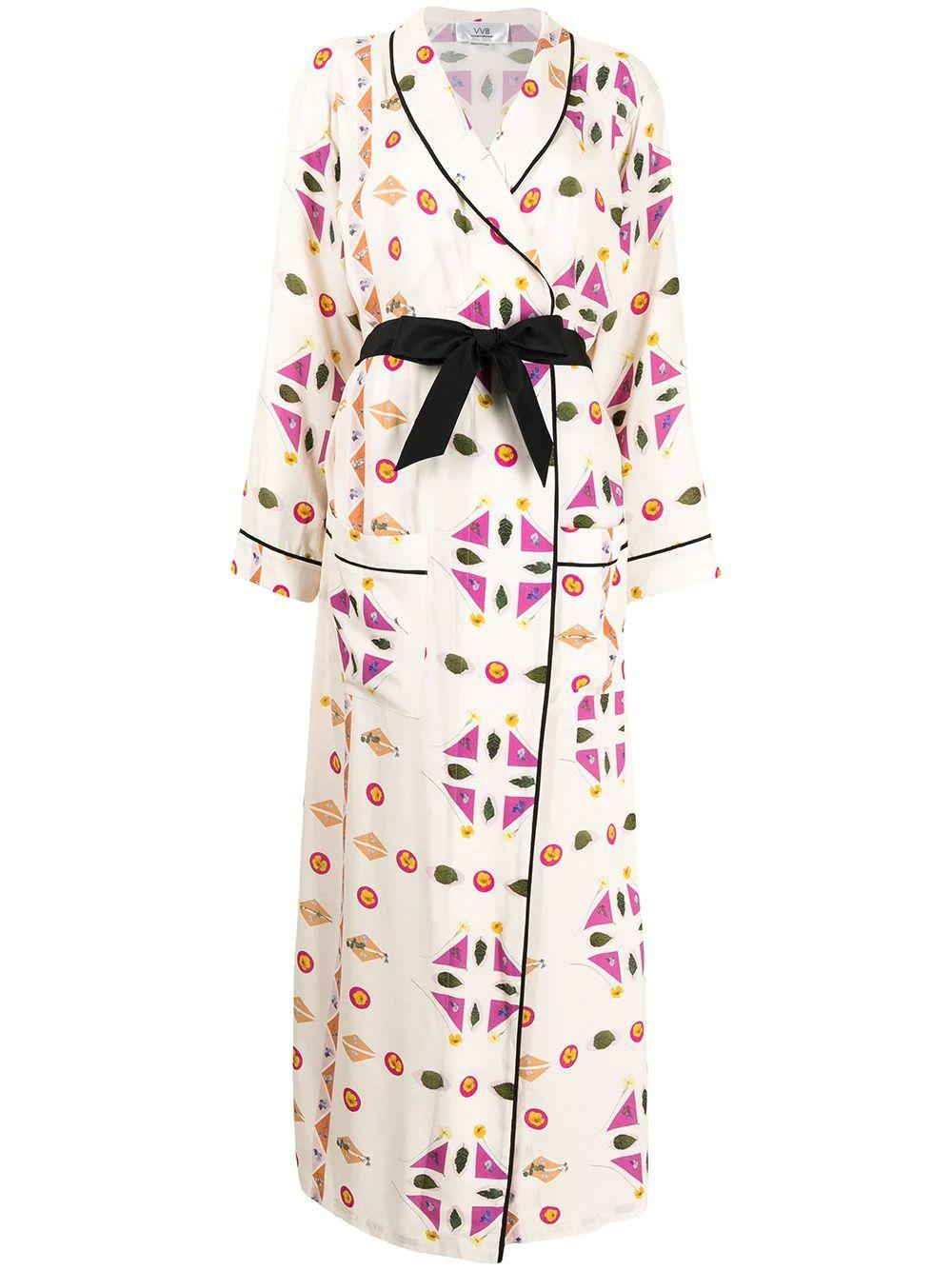 Printed Robe Dress