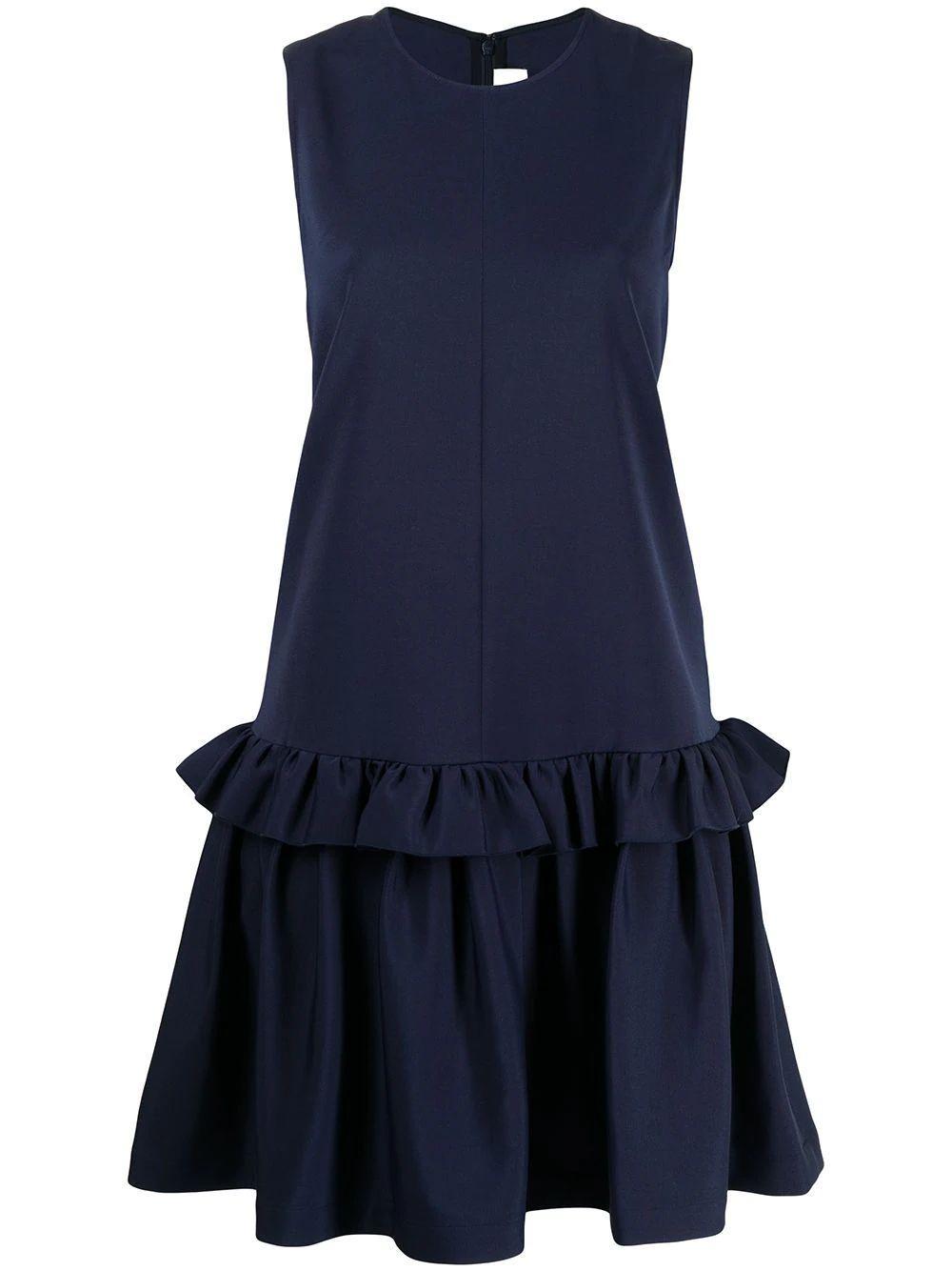 Faille Flounce Hem Dress Item # 2221WDR002556C