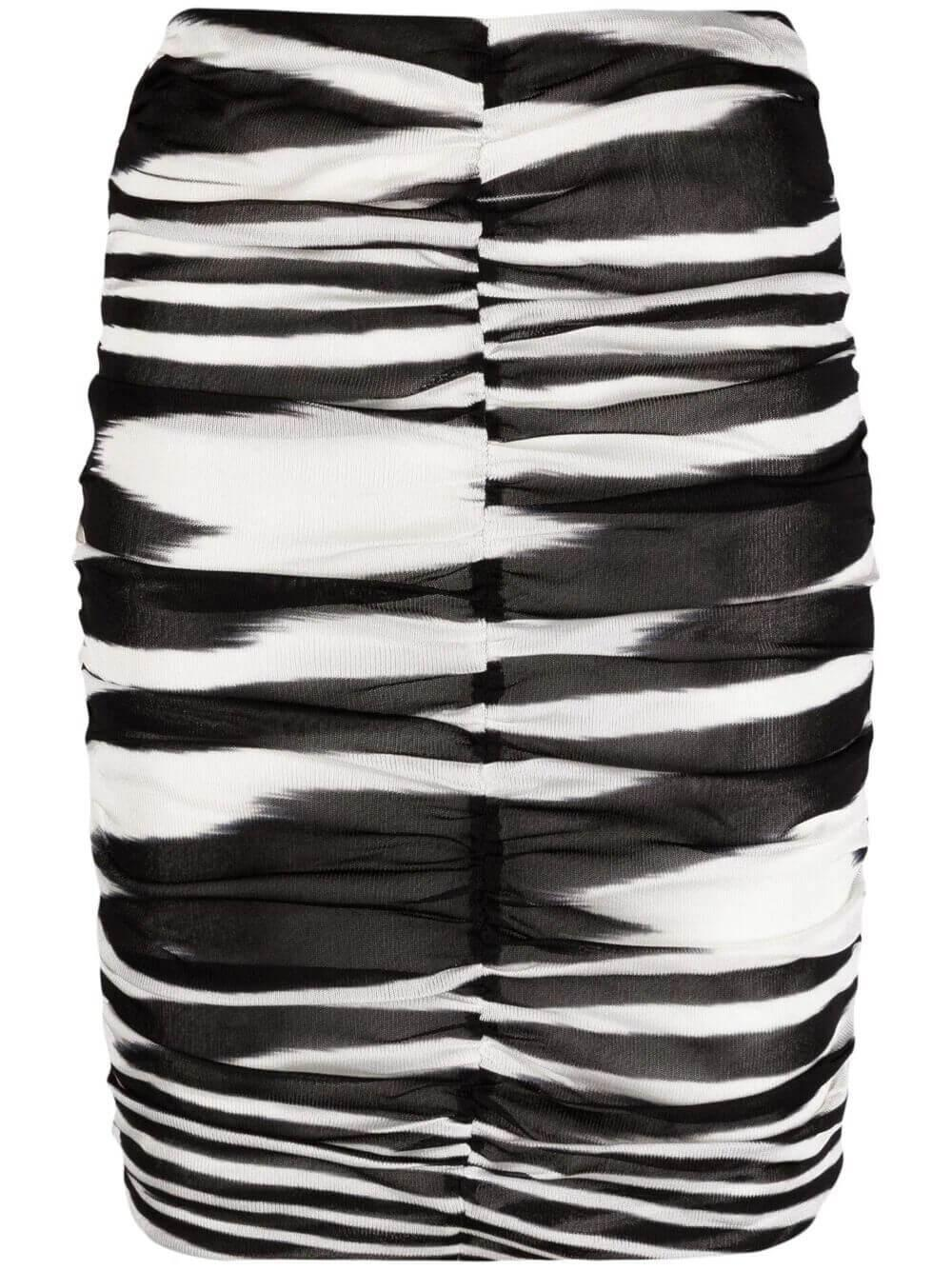Zebra Ruched Skirt