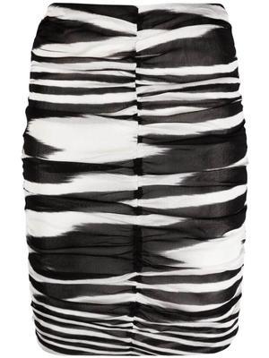 Zebra Ruched Skirt