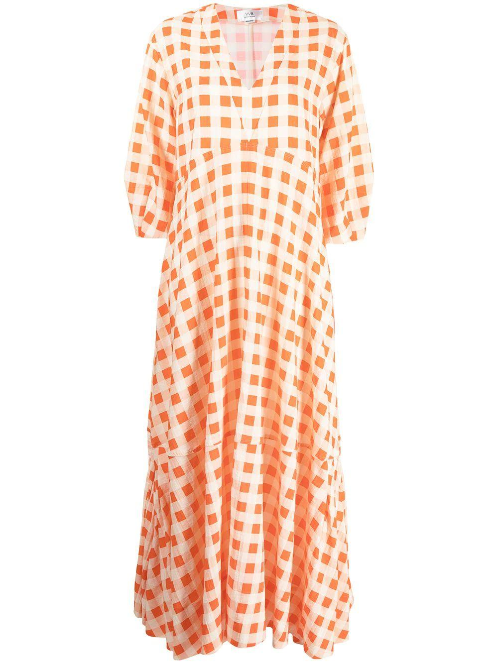 Gingham Check Maxi Dress
