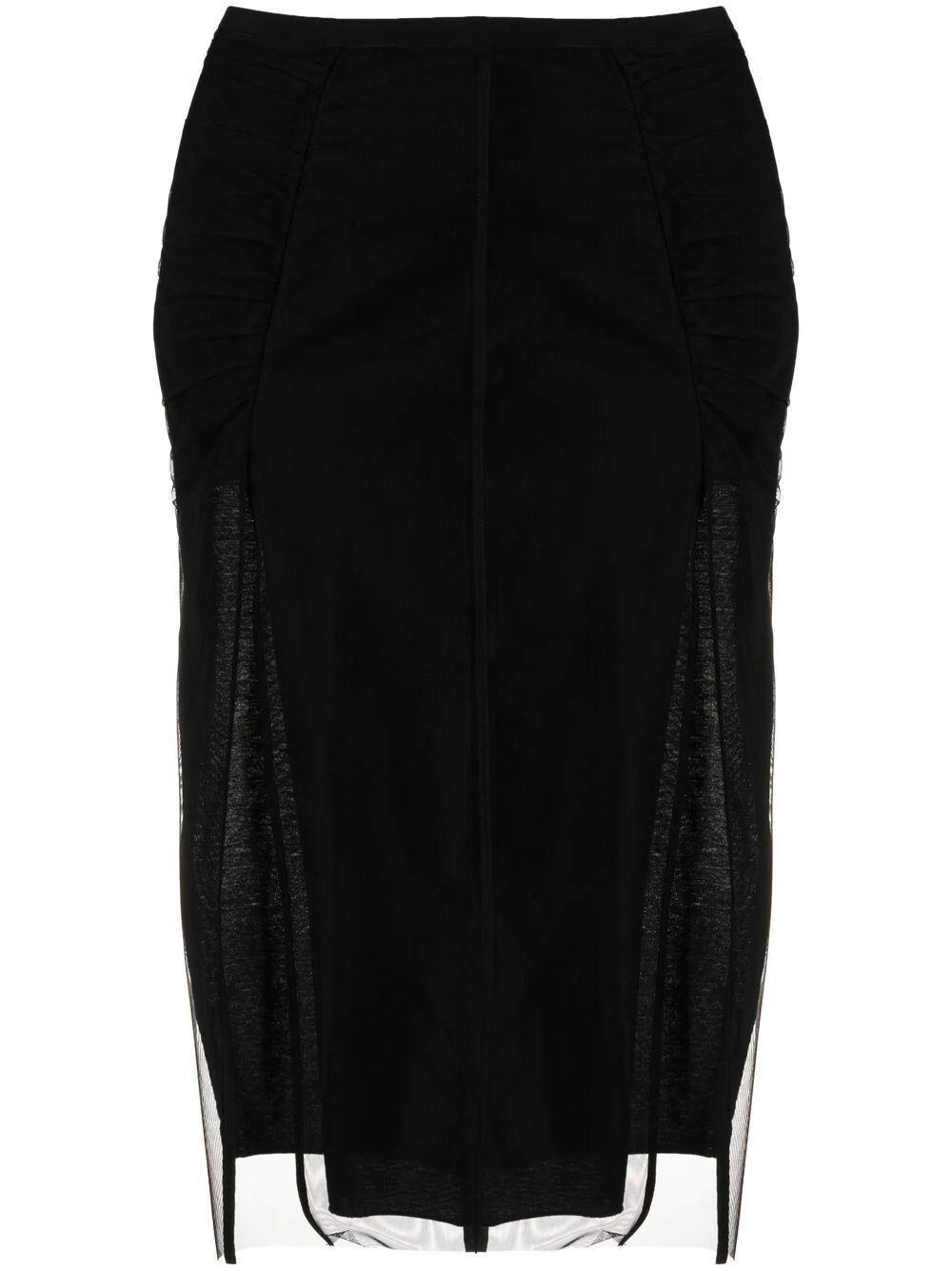 Tulle Embellished Skirt Item # RO21S3364