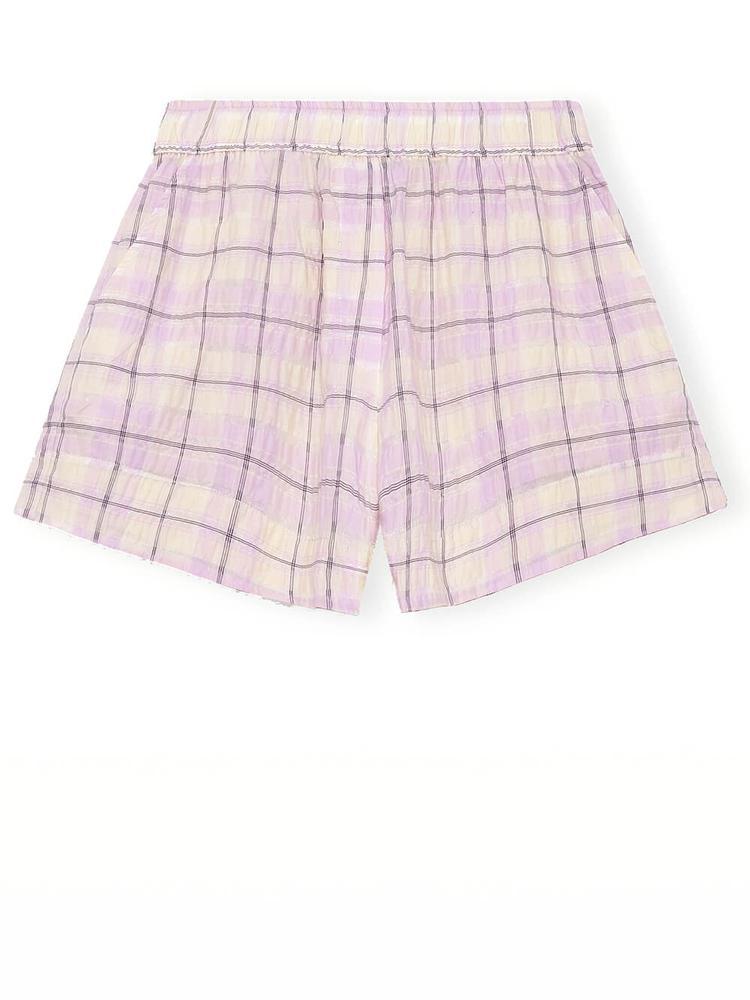 Seersucker Check Shorts Item # F5828