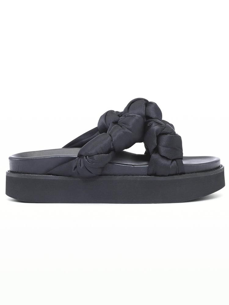 Recycled Satin Knotted Sandal Item # S1489