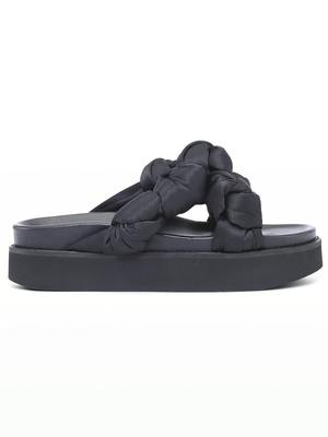 Recycled Satin Knotted Sandal