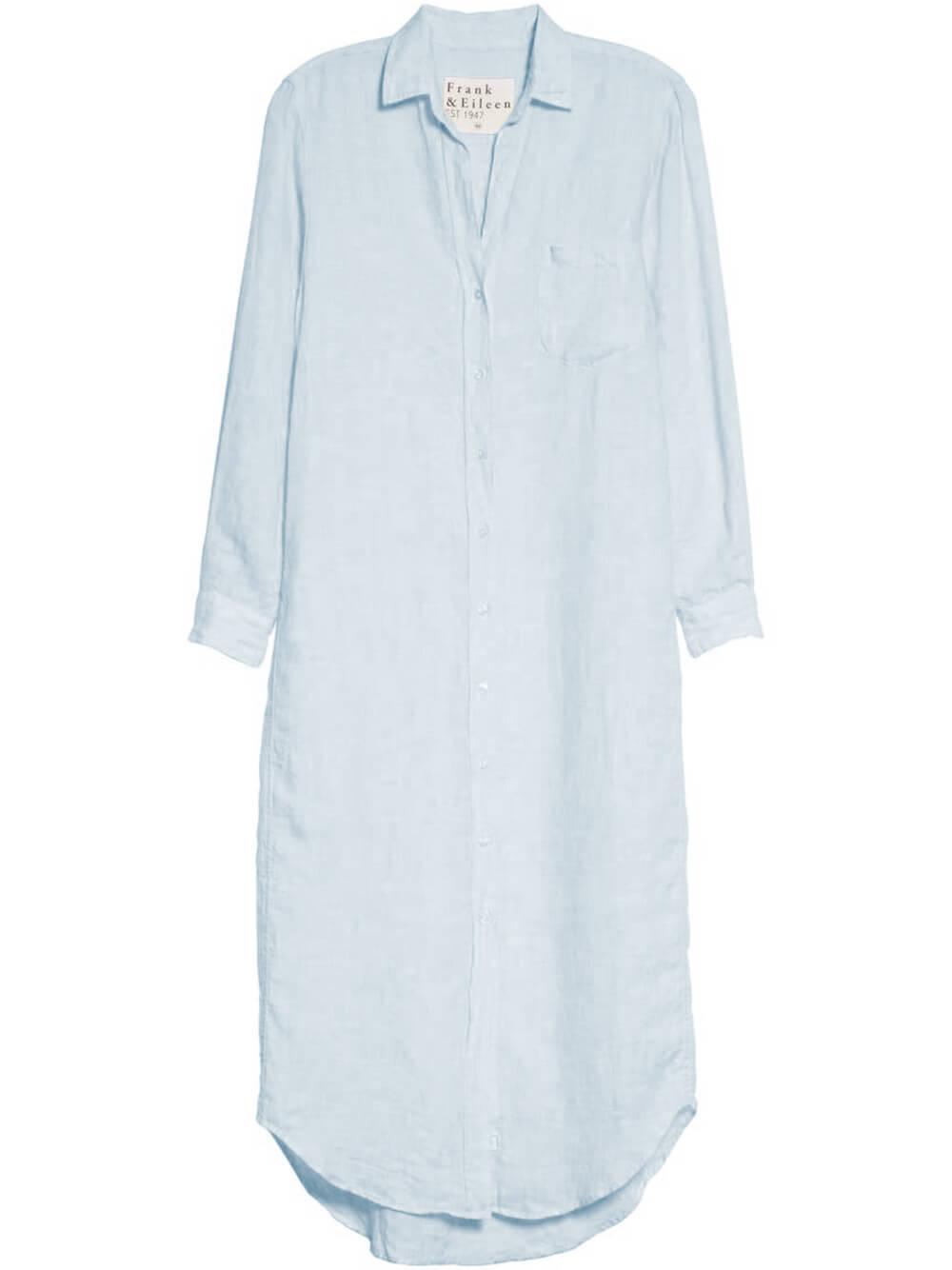 Rory Woven Long Dress Item # RORY-LBLN