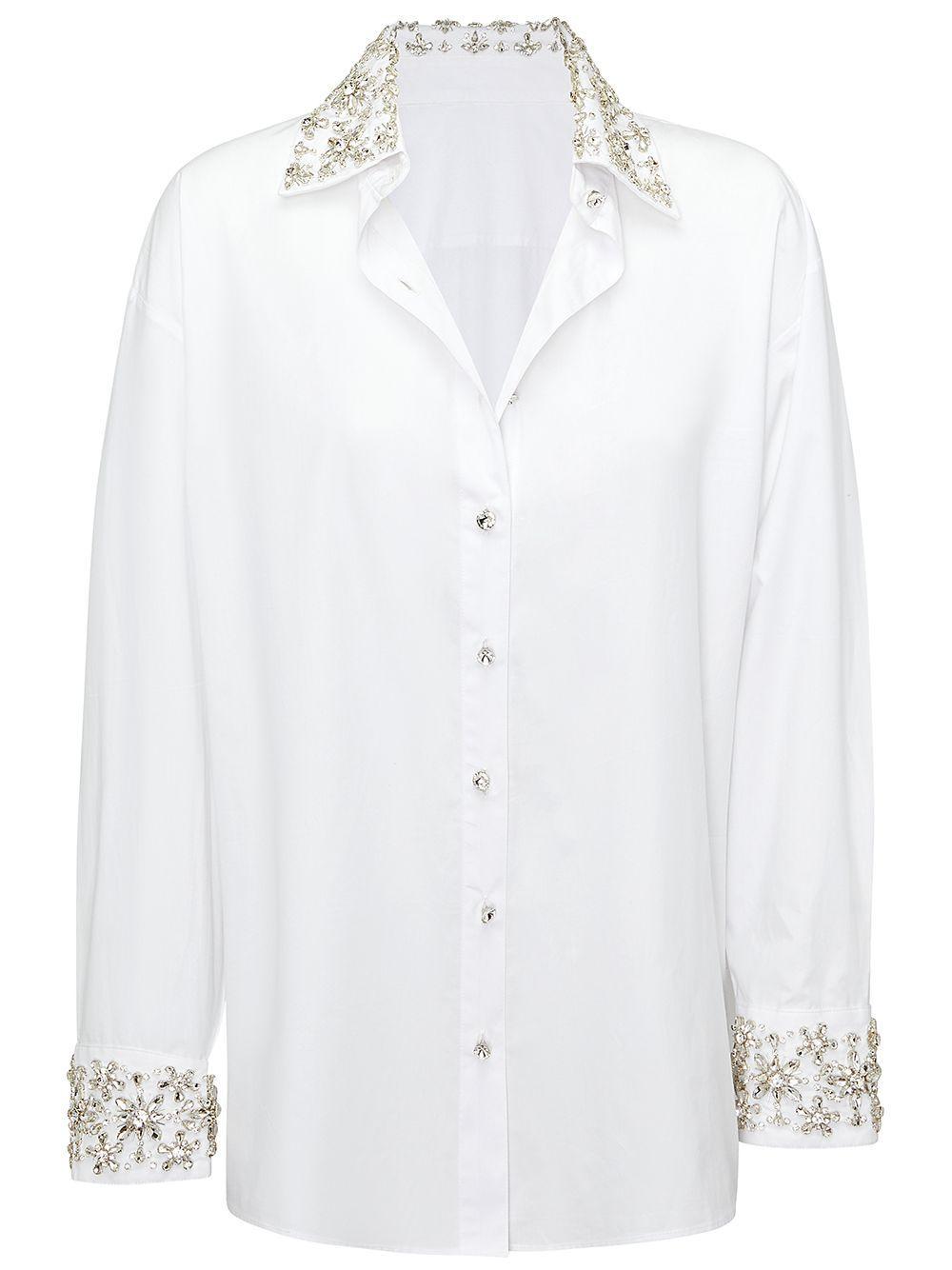 Reagan Embellished Shirt Item # SS21-3621