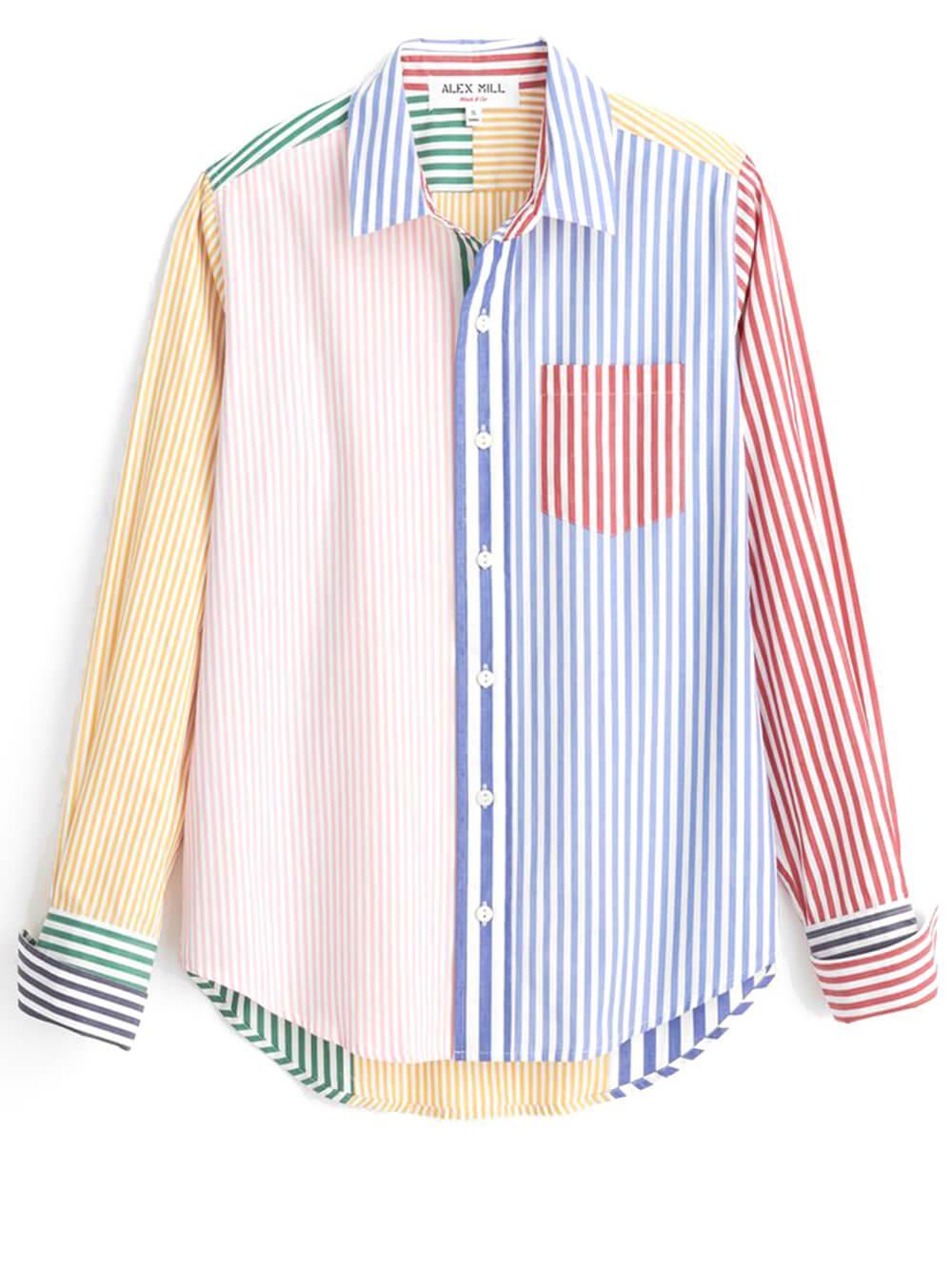 Mixed Stripe Whatt Shirt Item # 212-WS034-2690