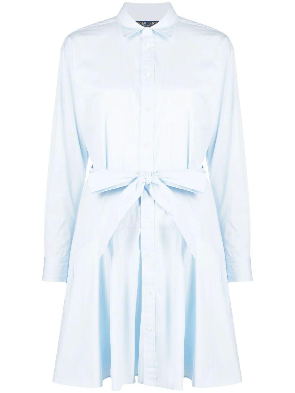 Tie Waist Shirt Dress