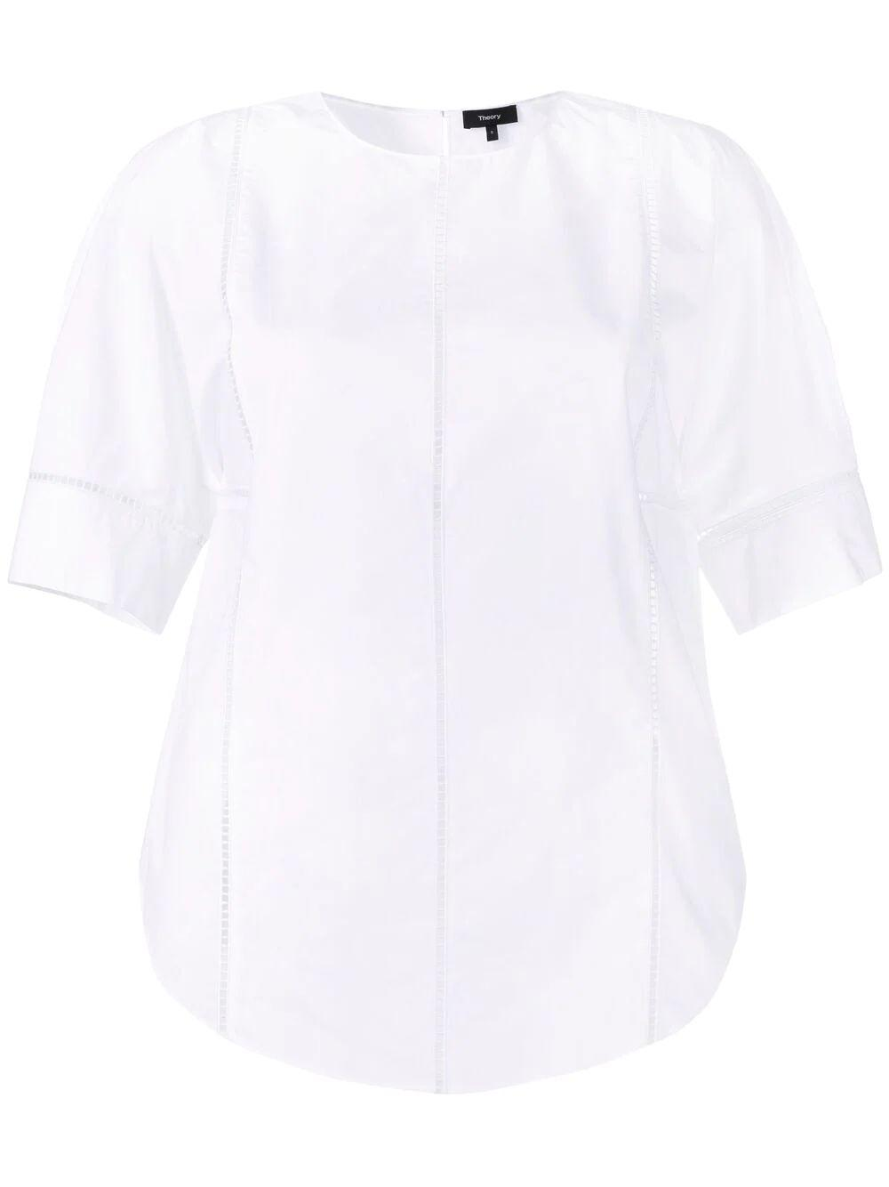 Pointelle Trim Blouse