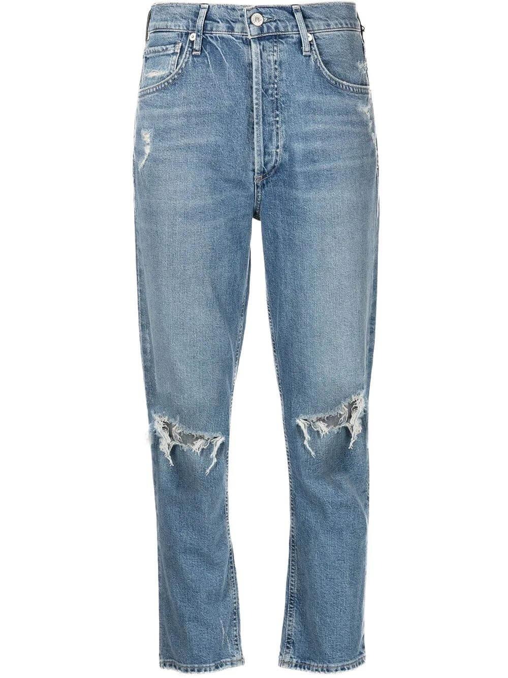 Charlotte Cropped Straight Leg Jeans