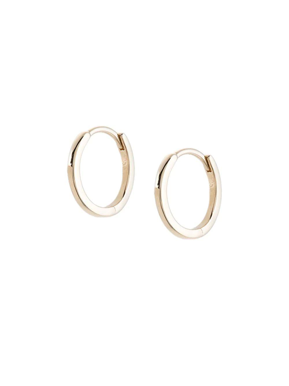 Solid Gold Huggie Earrings