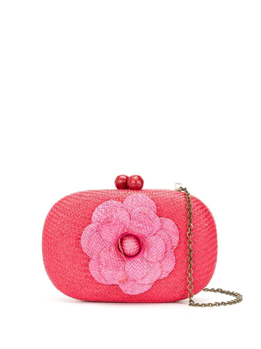 Olive Flower Clutch