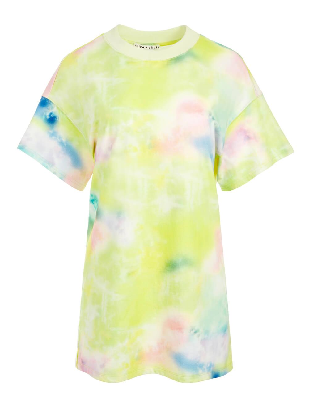 Garner Tie Dye Tee Shirt Dress
