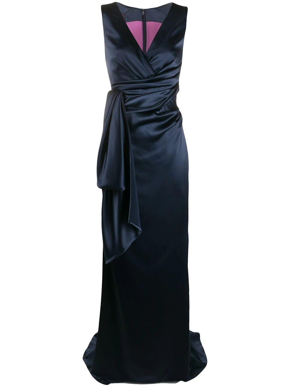 Side Drape Detail Gown