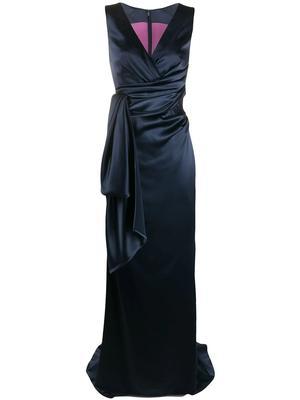 Side Drape Detail Gown