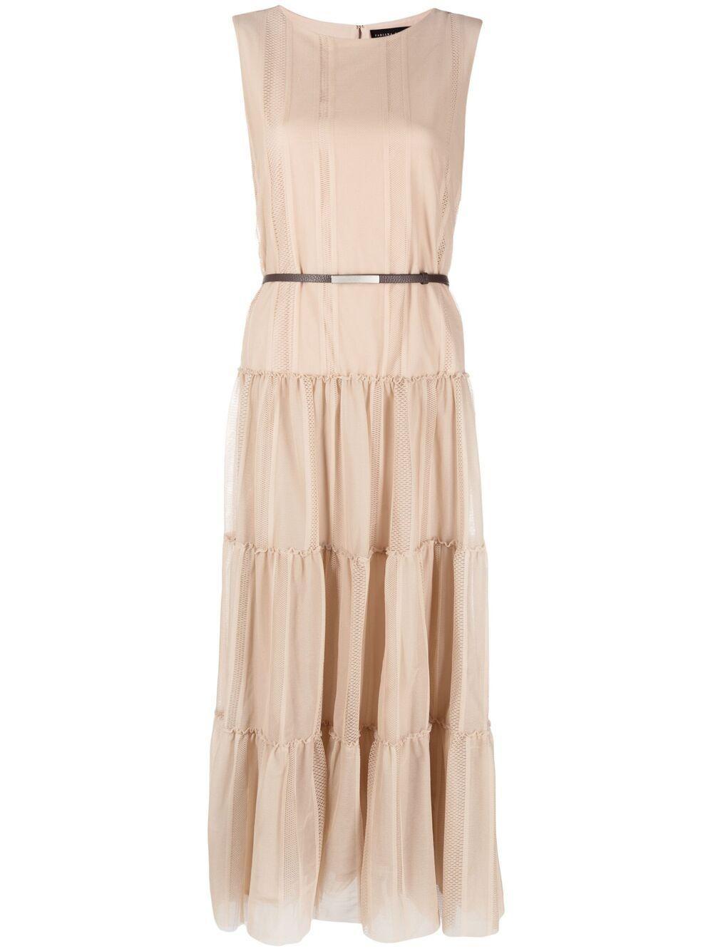 Tiered Cotton Tulle Dress Item # ABD271B696