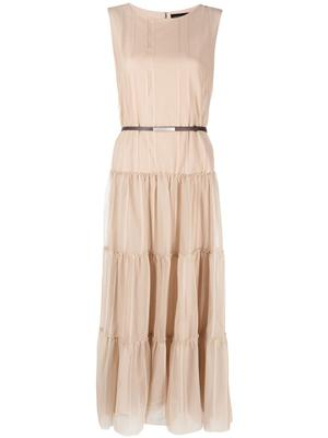Tiered Cotton Tulle Dress