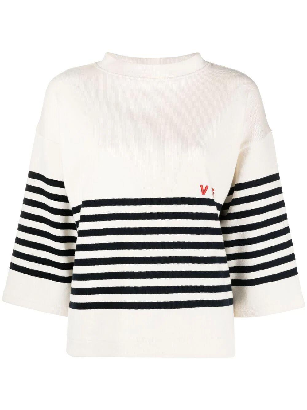 Striped Logo Top