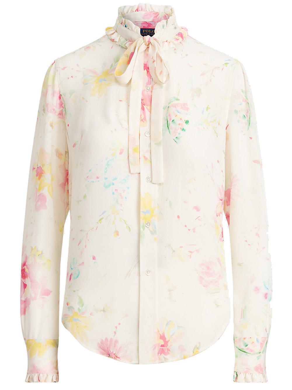 Ruffle Trim Floral Blouse Item # 211835375003