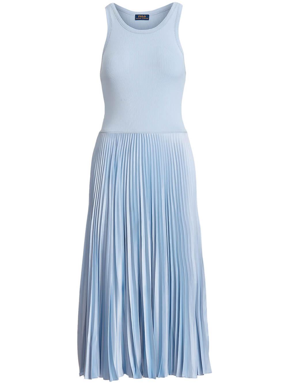 Pleated Sleeveless Dress Item # 211838046001