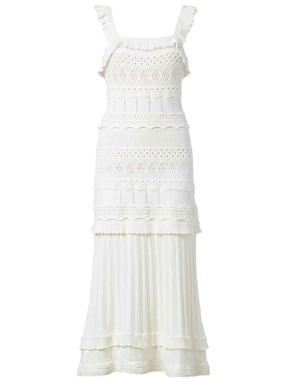Lightweight Pointelle Knit Dress