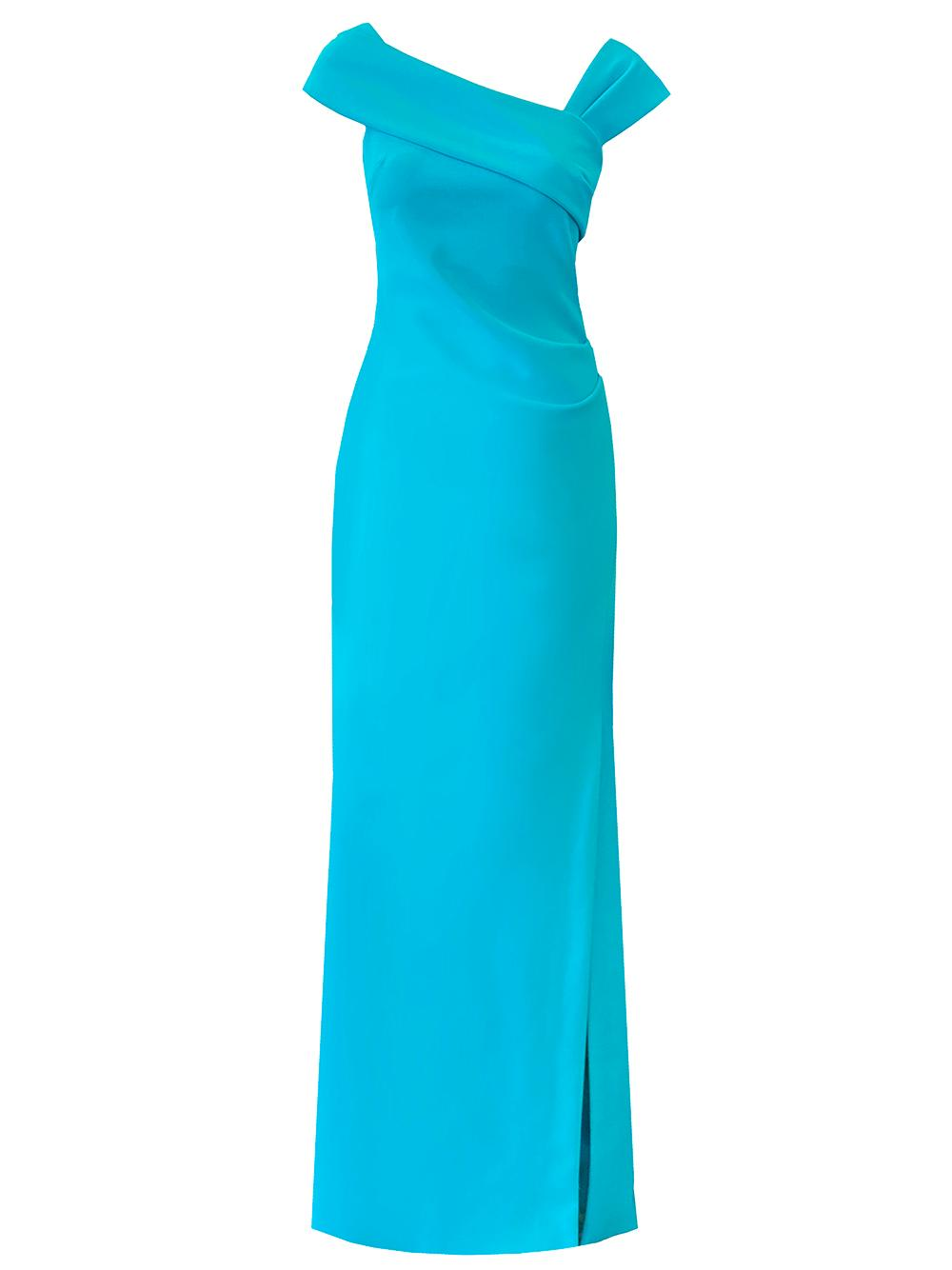 Asymmetrical Neckline Gown
