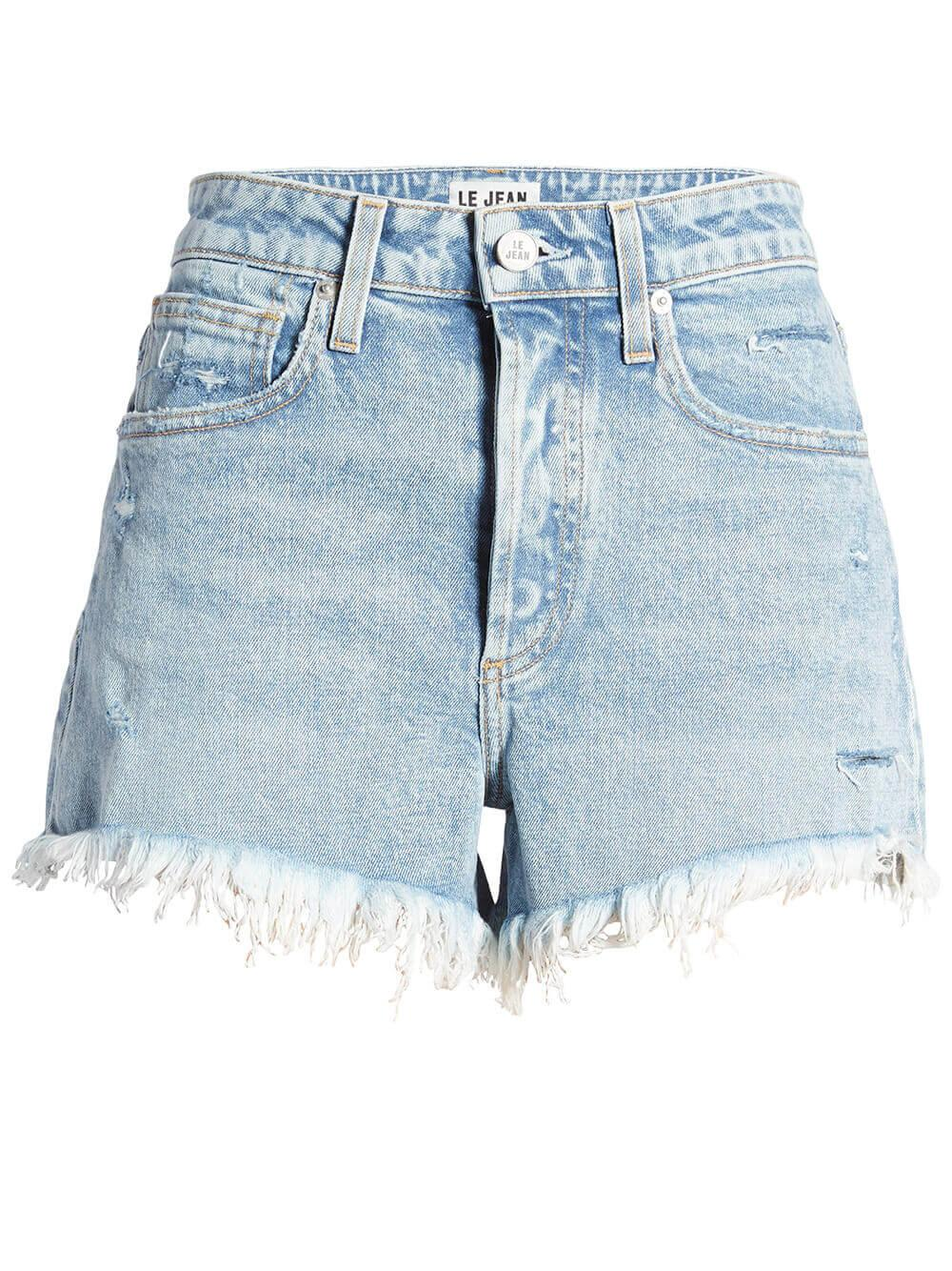 High Rise Adele Cut Off Jean Shorts