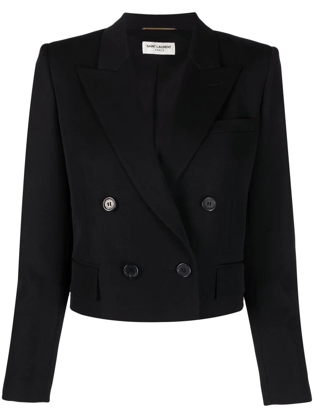 Double Breasted Cropped Tux Jacket