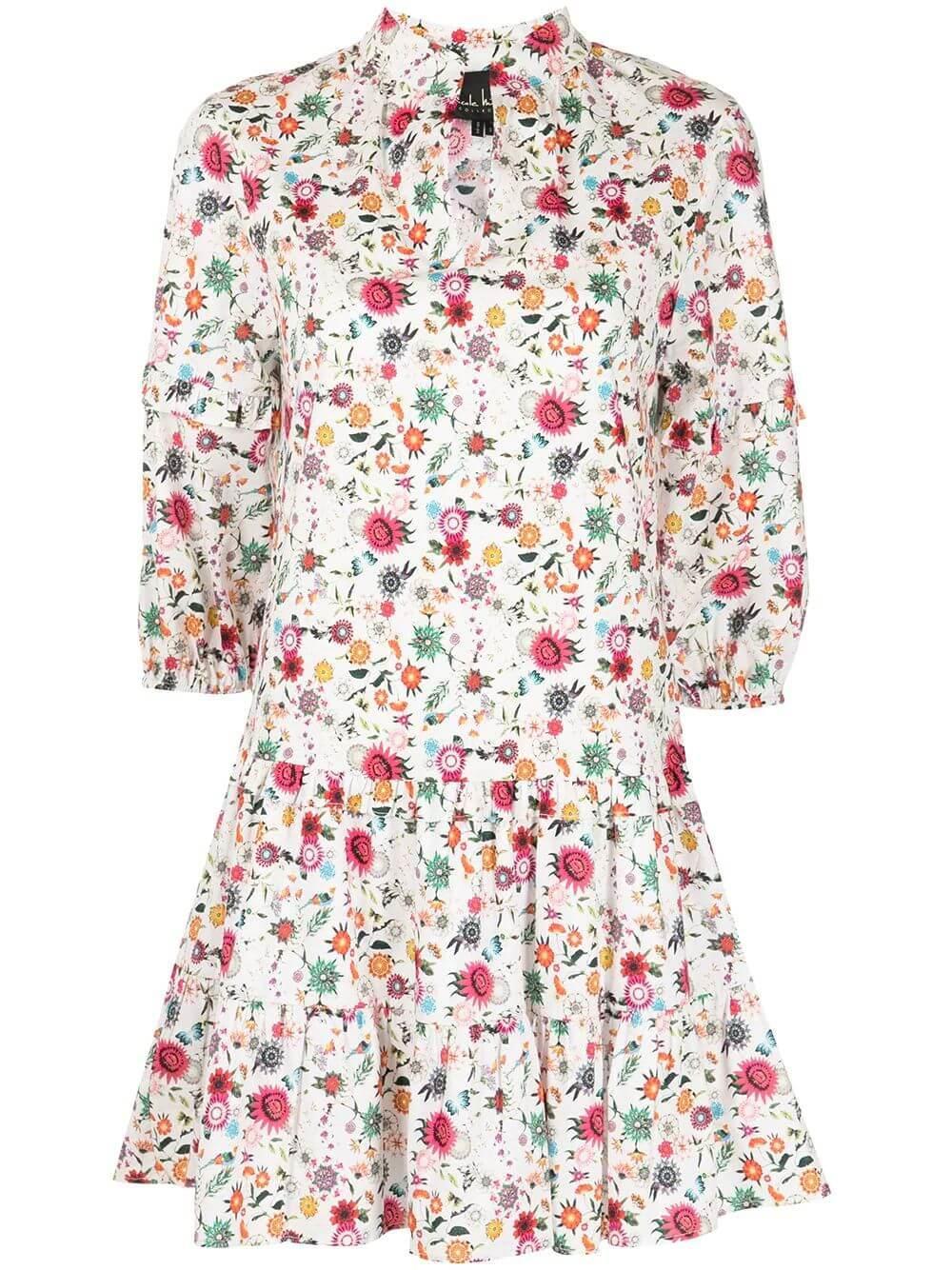 Berry Botanical Mini Dress