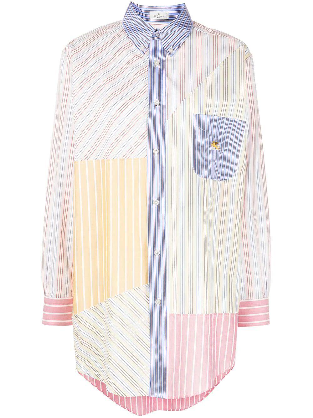 Multi Stripe Boyfriend Shirt