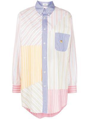 Multi Stripe Boyfriend Shirt