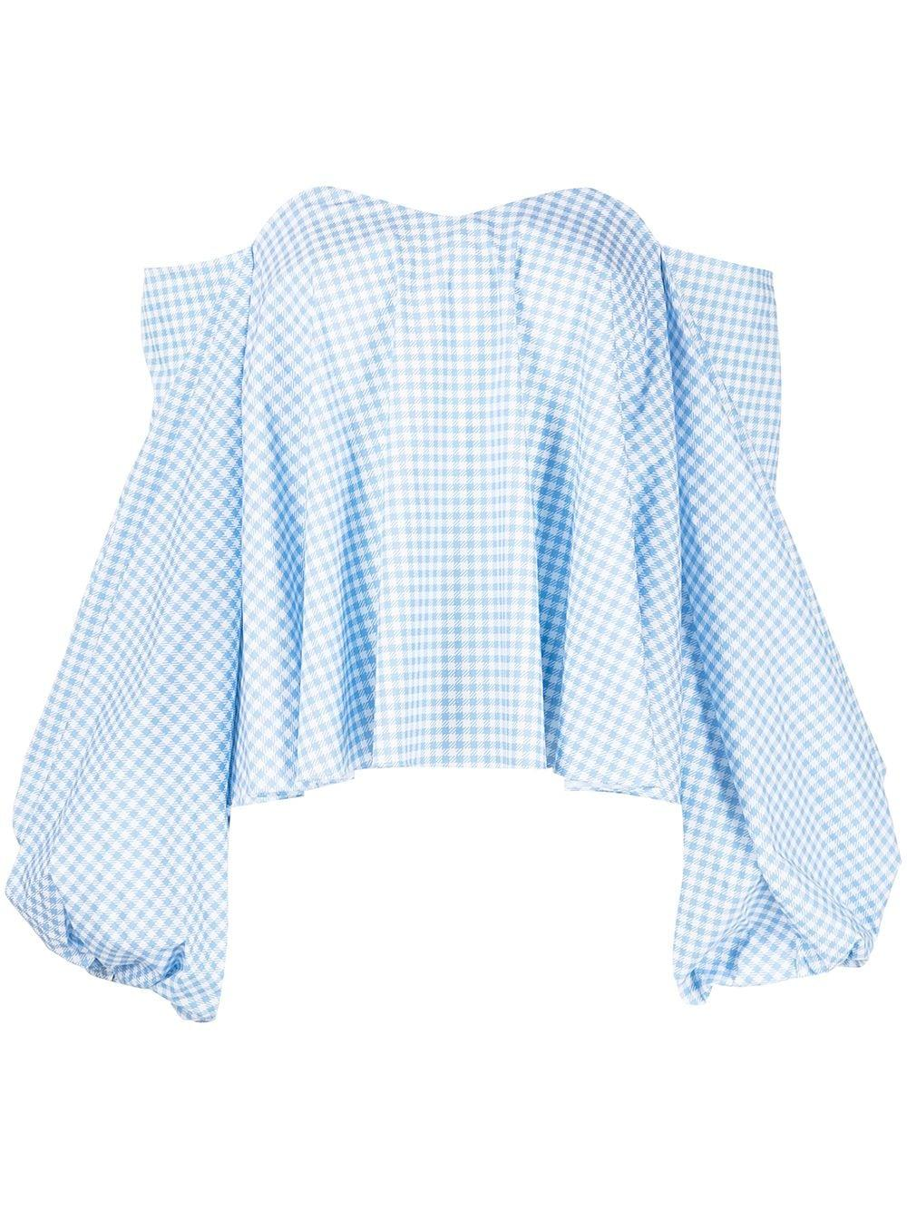 Everly Gingham Top Item # T438GPSS21