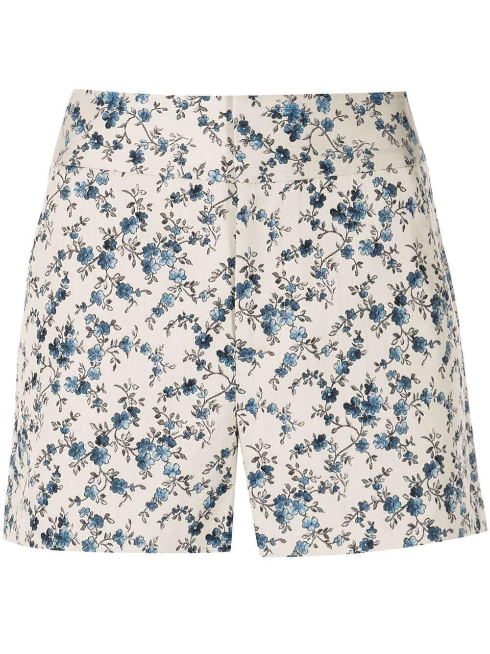 Cady Floral Printed Shorts Item # CC103R36603