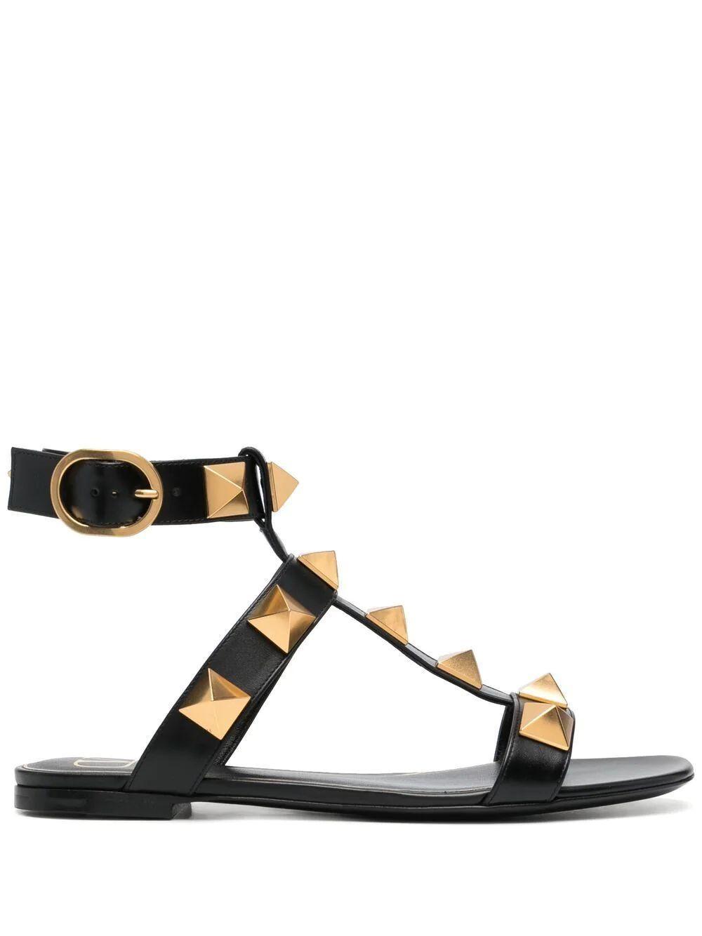 Roman Stud Flat Gladiator Sandal