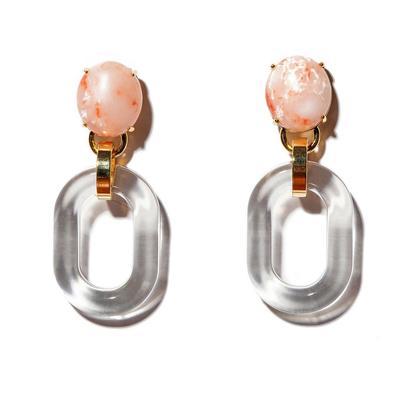 Coral Club Link Earrings
