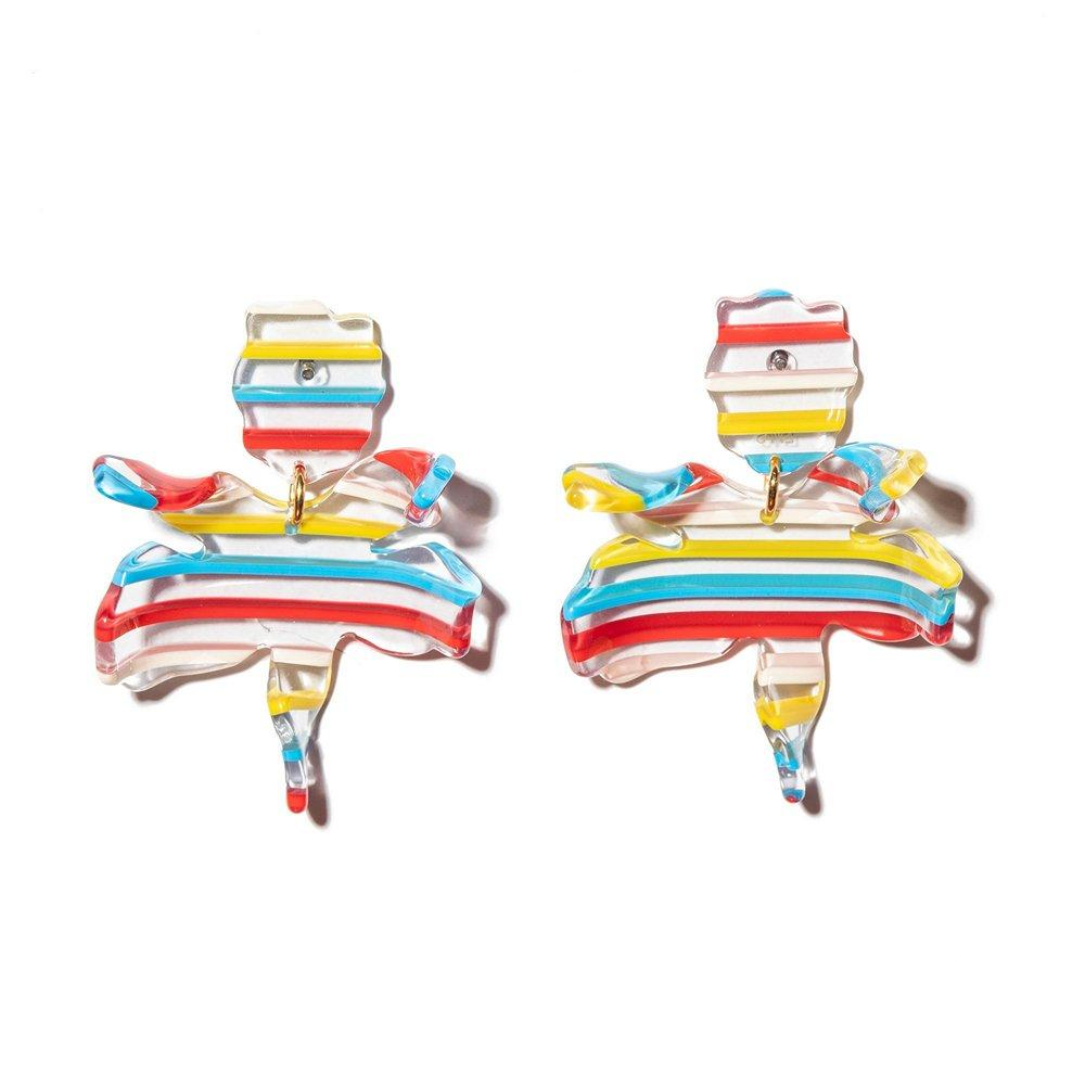Primary Sunset Small Paper Lily Earrings Item # LS0592PS